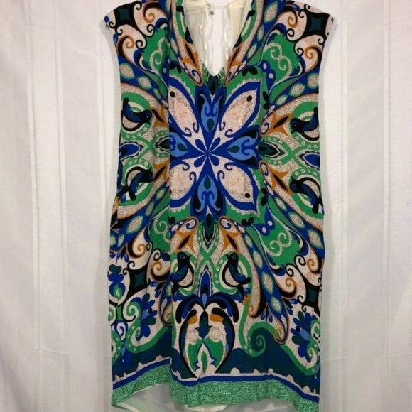 348853819ac Maeve Tops | Anthropologie Tunic Blue Green Sz L | Poshmark